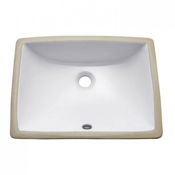 20 in. Rectangular Undermount Sink