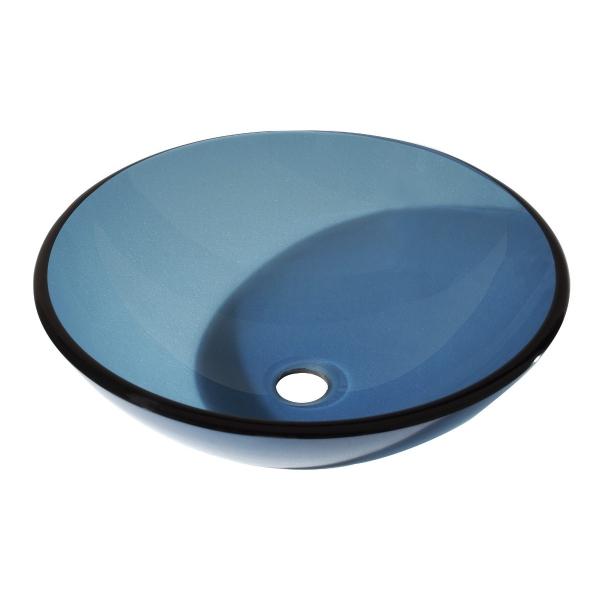 16.5 in. Round Glass Vessel Sink