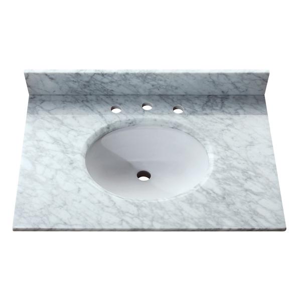 31 in. Carrera White Stone Vanity Top