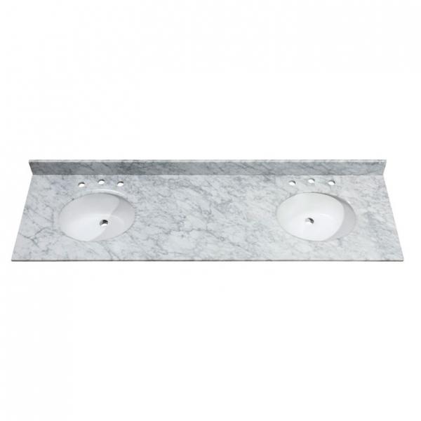 73 in. Carrera White Stone Vanity Top