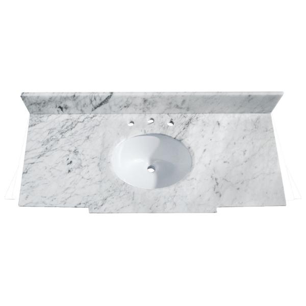 WINDSOR 49 in. Carrera White Stone Vanity Top